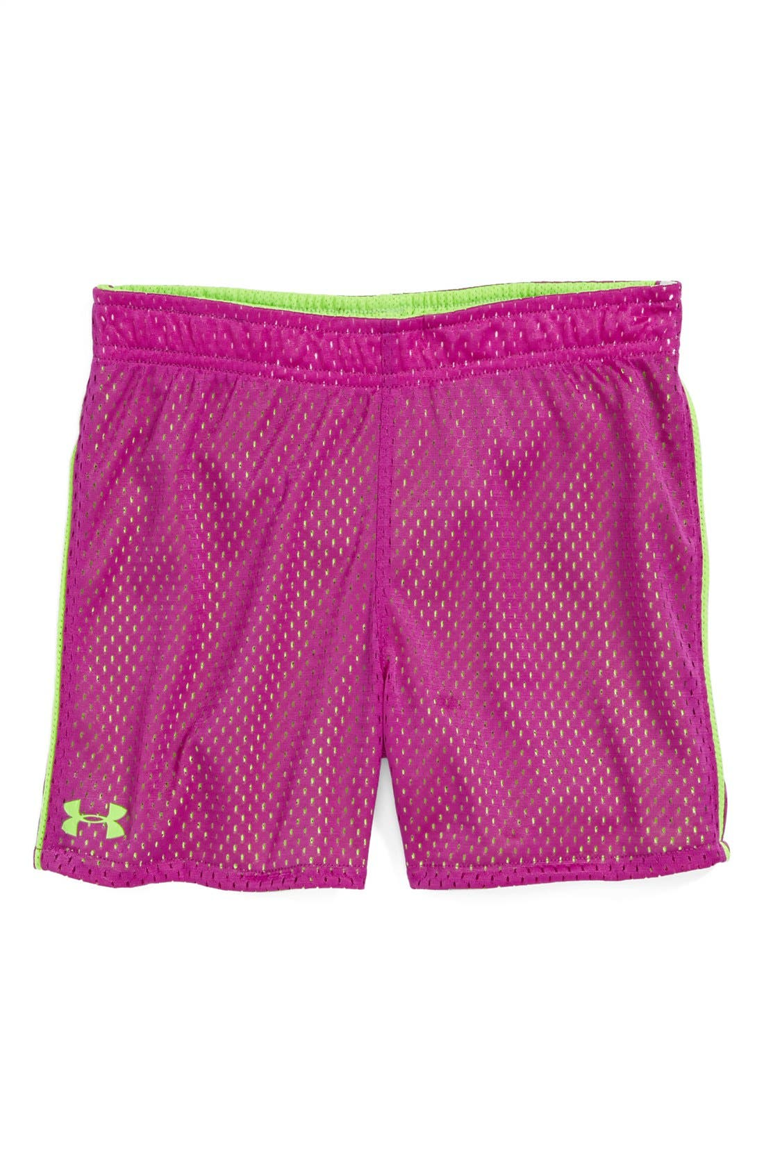 Alternate Image 2  - Under Armour Reversible Mesh Shorts (Little Girls)
