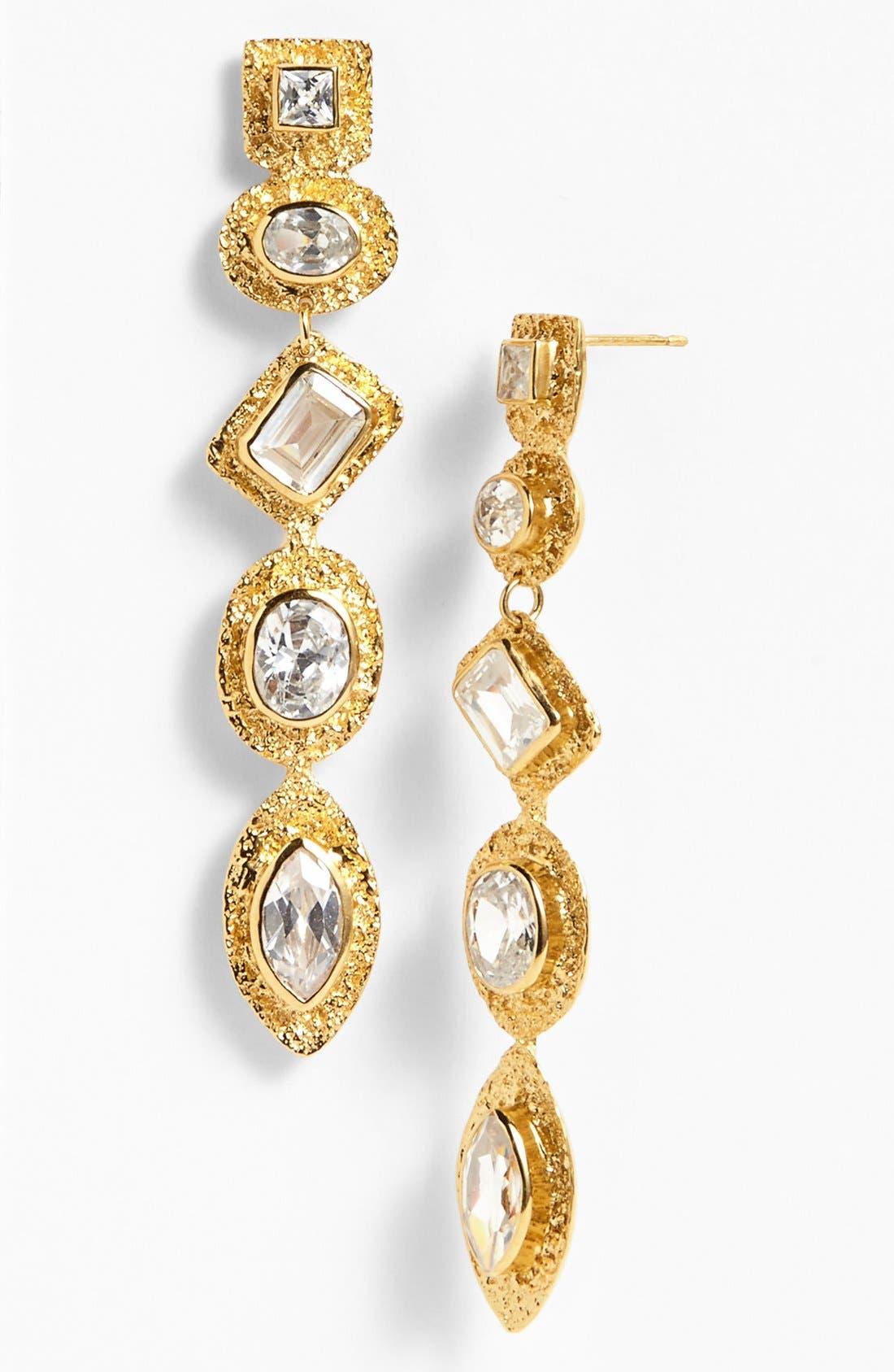 Alternate Image 1 Selected - Melinda Maria Cubic Zirconia Linear Earrings