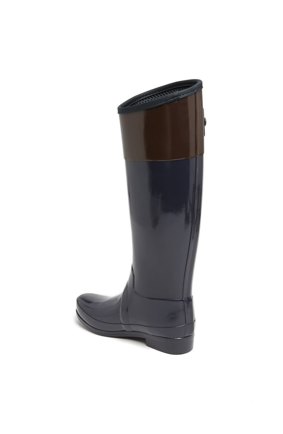 Alternate Image 2  - Hunter 'Sandhurst Carlyle' Tall Riding Rain Boot (Women)