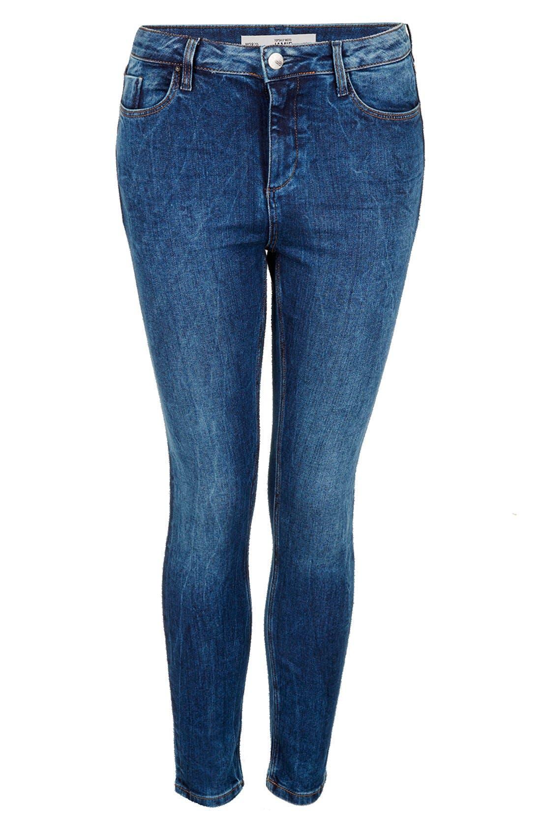 Alternate Image 3  - Topshop 'Jamie' Skinny Jeans (Regular, Short & Long)