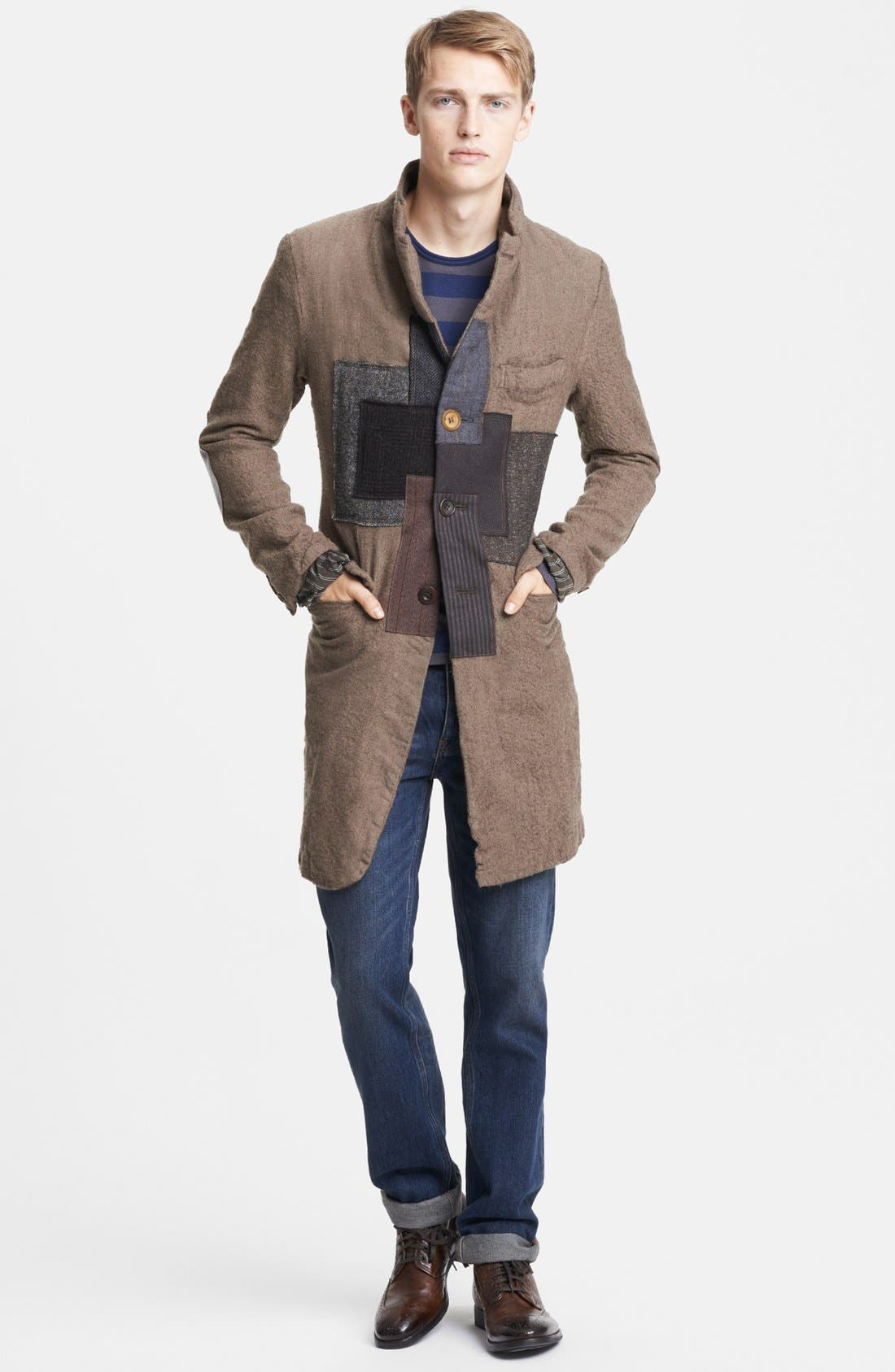 Alternate Image 4  - Junya Watanabe Patchwork Wool Overcoat