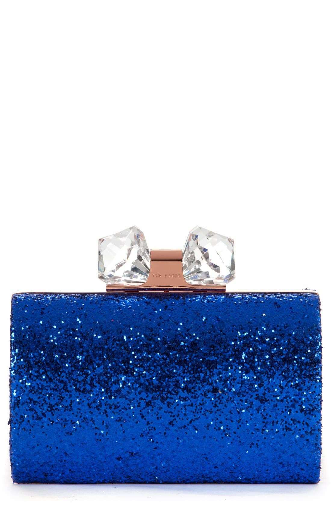 Main Image - Ted Baker London 'Karsie' Glitter Frame Clutch
