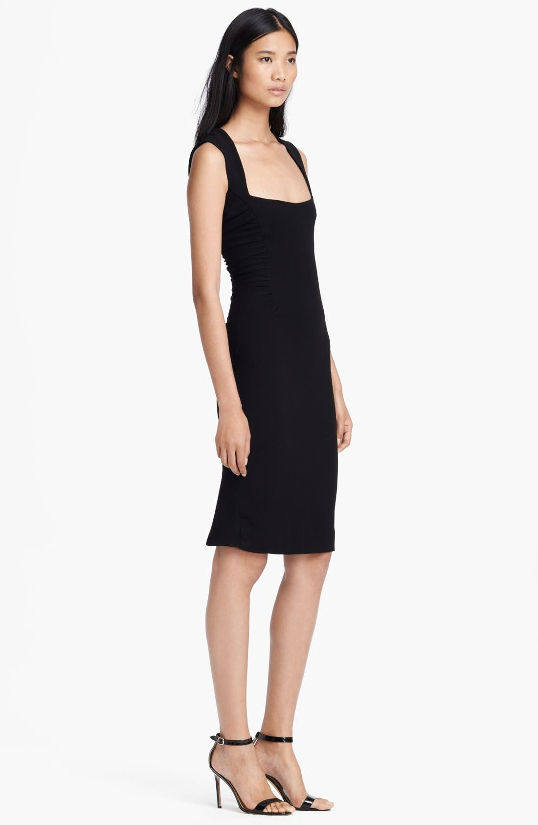Alternate Image 3  - L'AGENCE Square Neck Ruched Dress