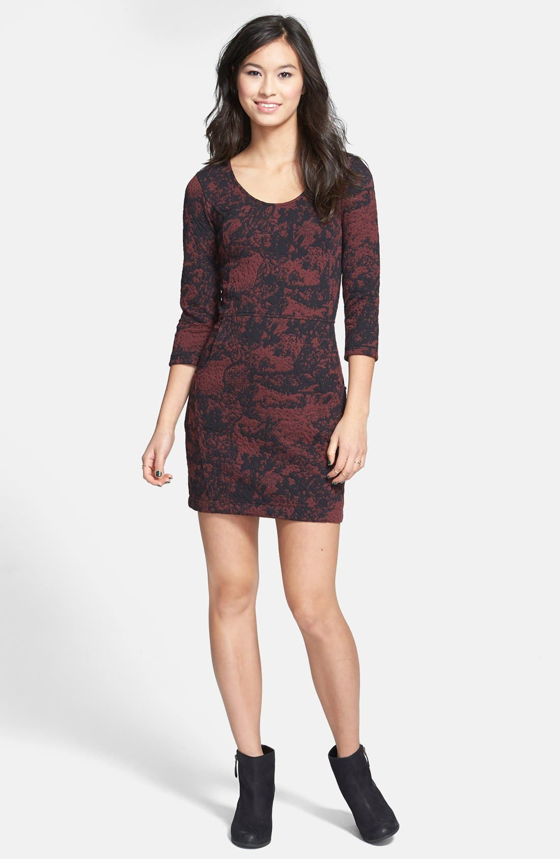 Alternate Image 1 Selected - BP. Textured Body-Con Dress (Juniors)