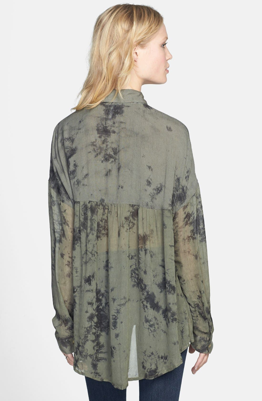Alternate Image 2  - Free People 'Hard Days' Sheer Blouse