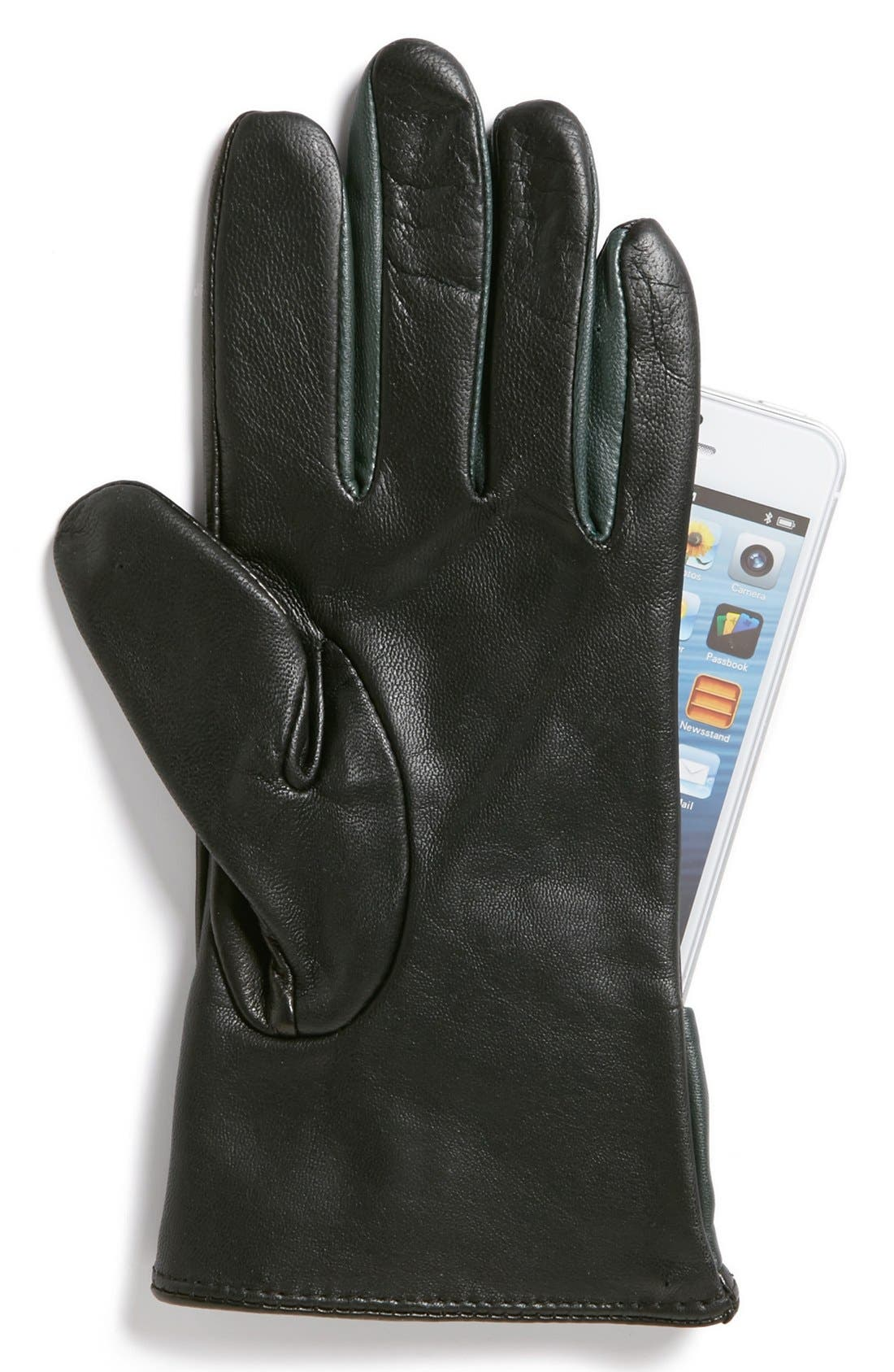 Alternate Image 3  - Ted Baker London 'Bow' Leather Tech Gloves
