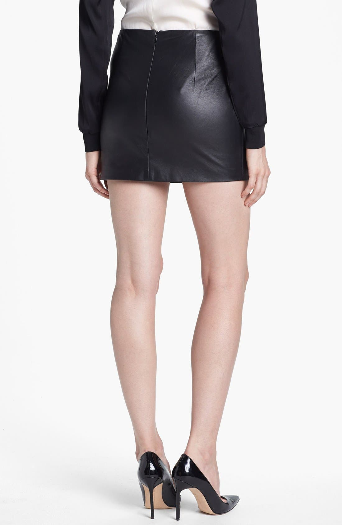 Alternate Image 2  - Trina Turk 'Phaedra' Leather Miniskirt