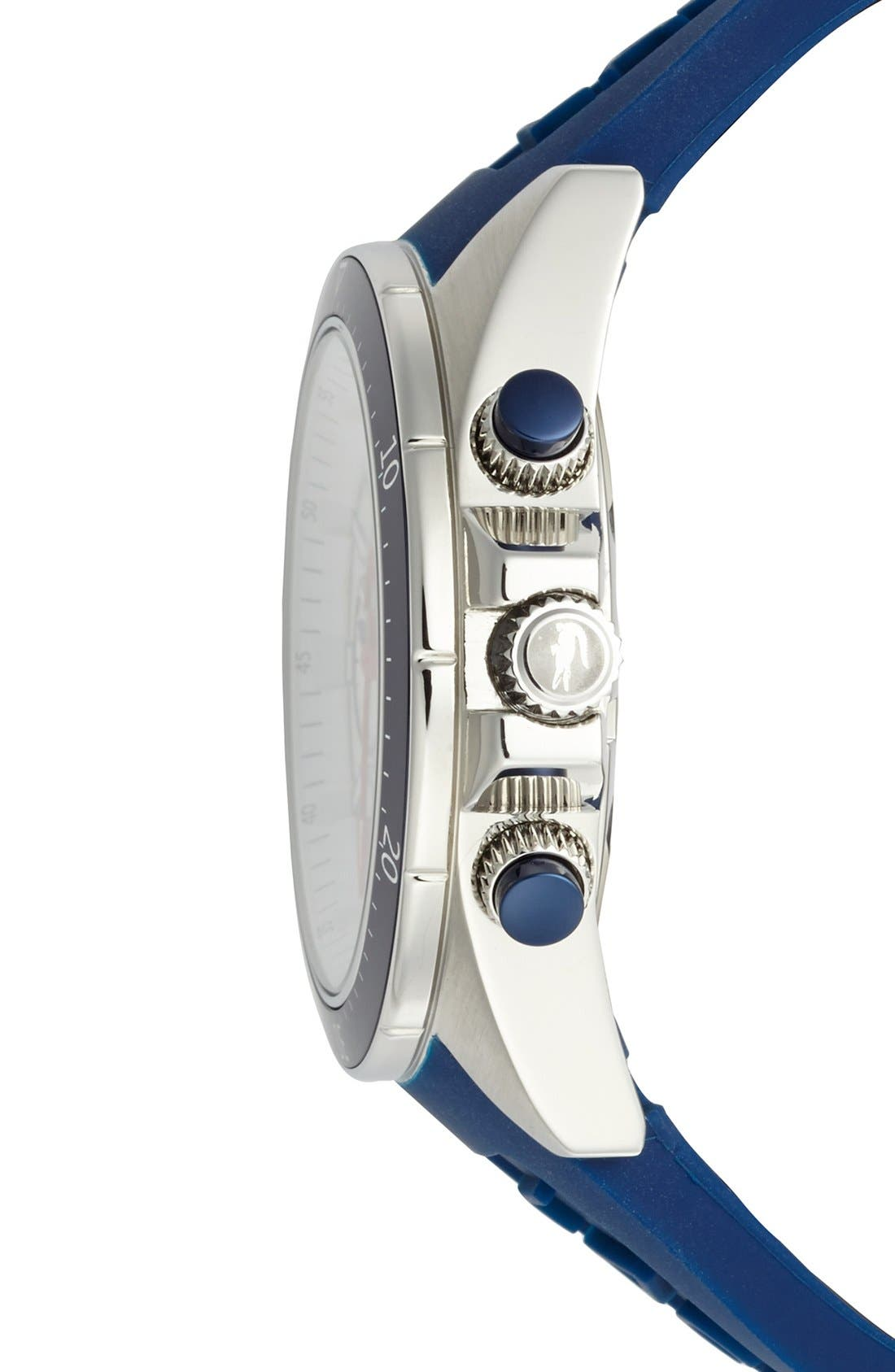 Alternate Image 3  - Lacoste 'Seattle' Chronograph Silicone Strap Watch, 44mm