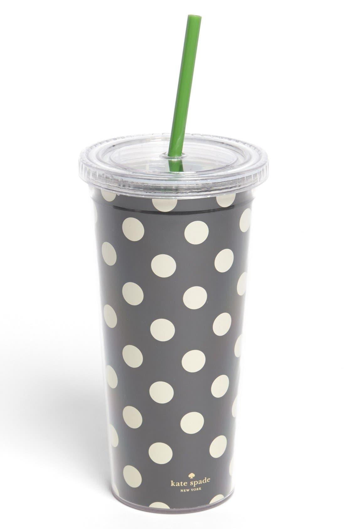 Alternate Image 1 Selected - kate spade new york polka dot insulated tumbler
