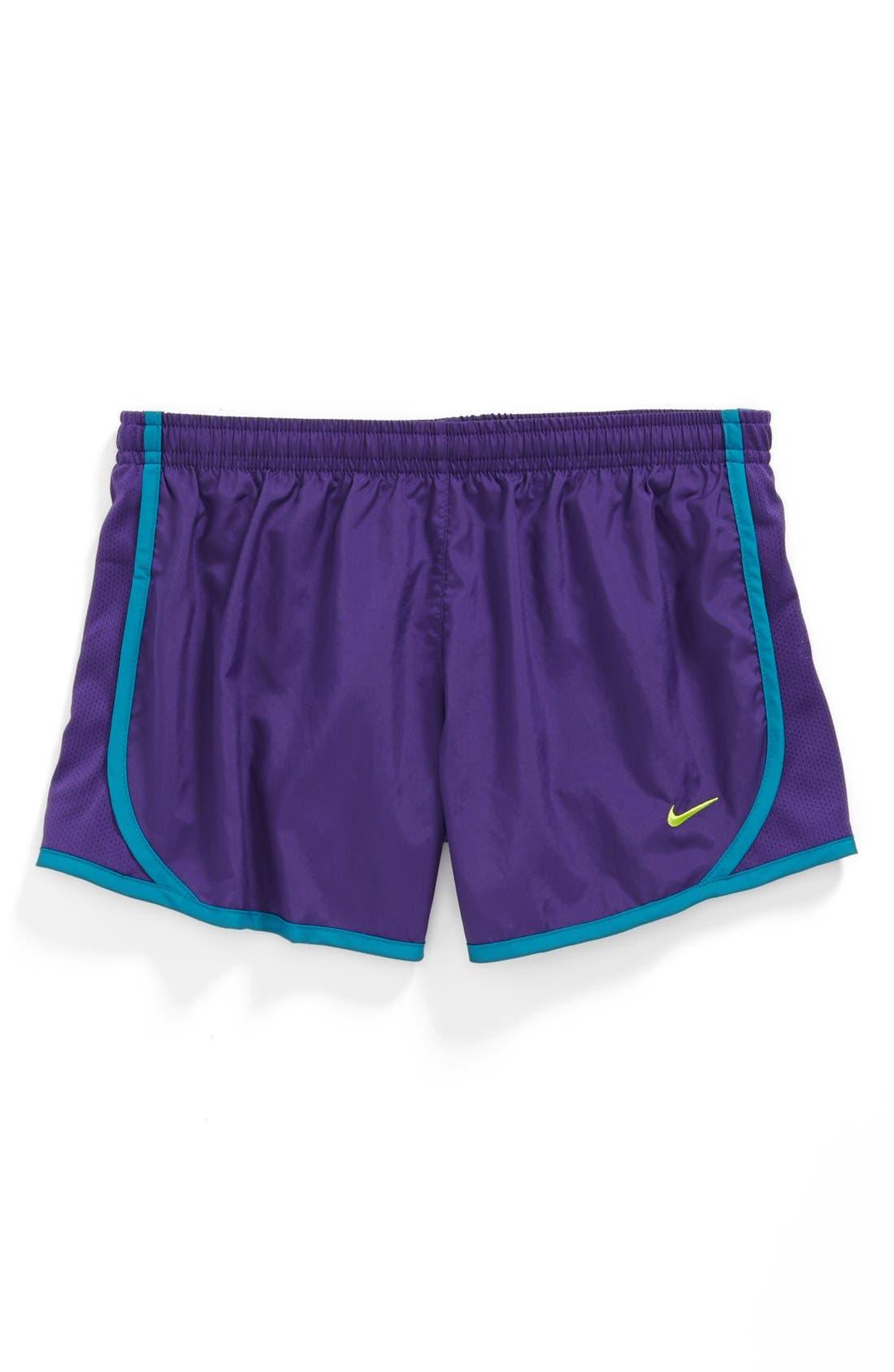 Alternate Image 1 Selected - Nike 'Tempo' Track Shorts (Little Girls & Big Girls)