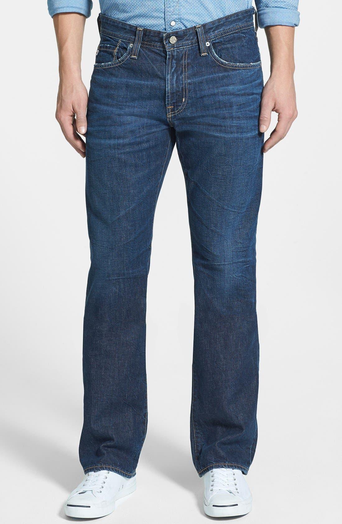 Alternate Image 1 Selected - AG 'Protégé' Straight Leg Jeans (Five Year Field)