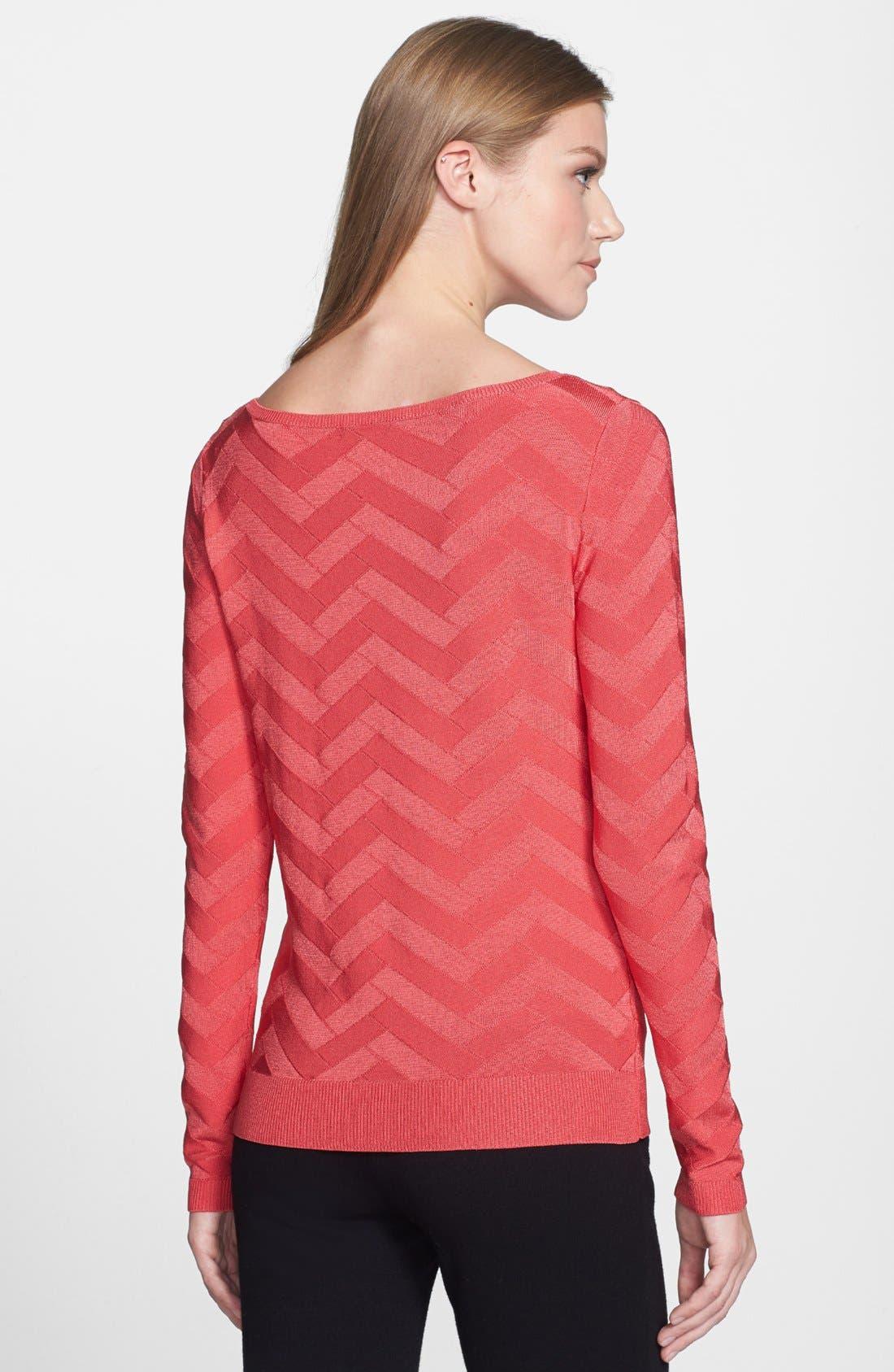 Alternate Image 2  - Classiques Entier® 'Rayana' Chevron Pullover Sweater