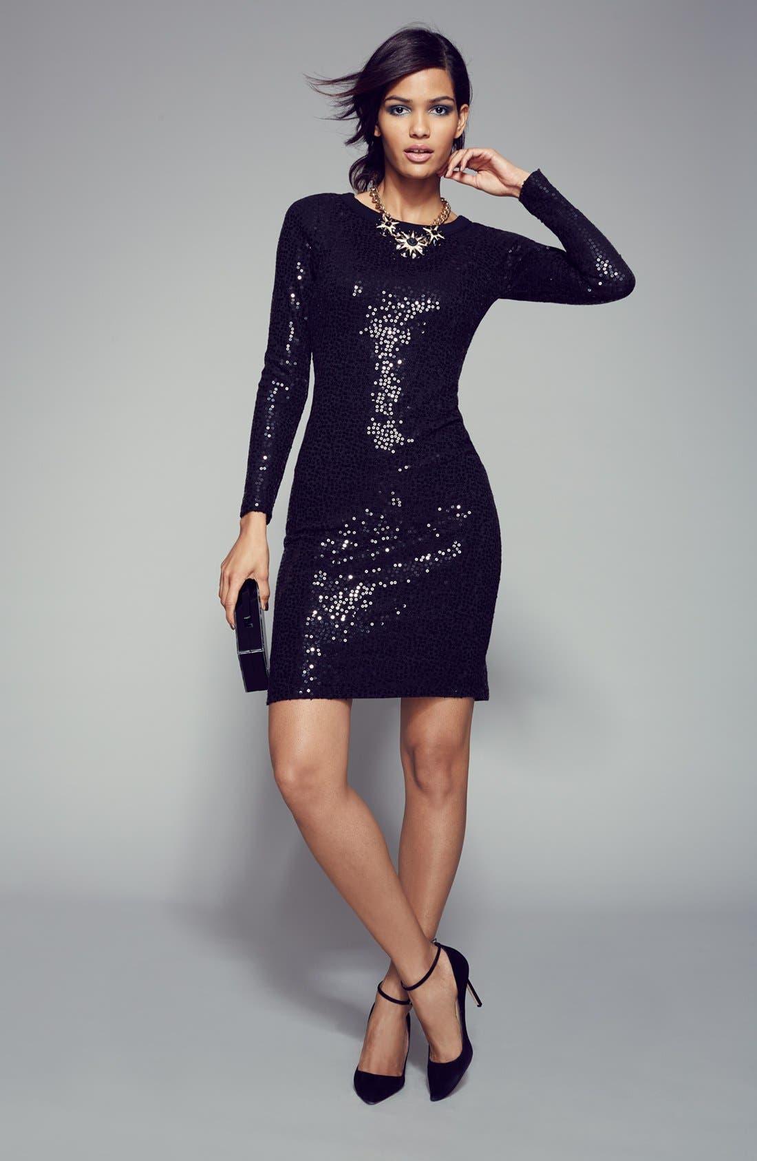 Alternate Image 3  - Karen Kane Sequin Sweater Dress