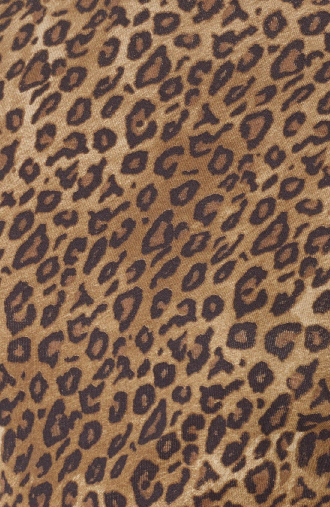 Alternate Image 3  - Lauren Ralph Lauren Snap Shoulder Leopard Print Top (Petite)