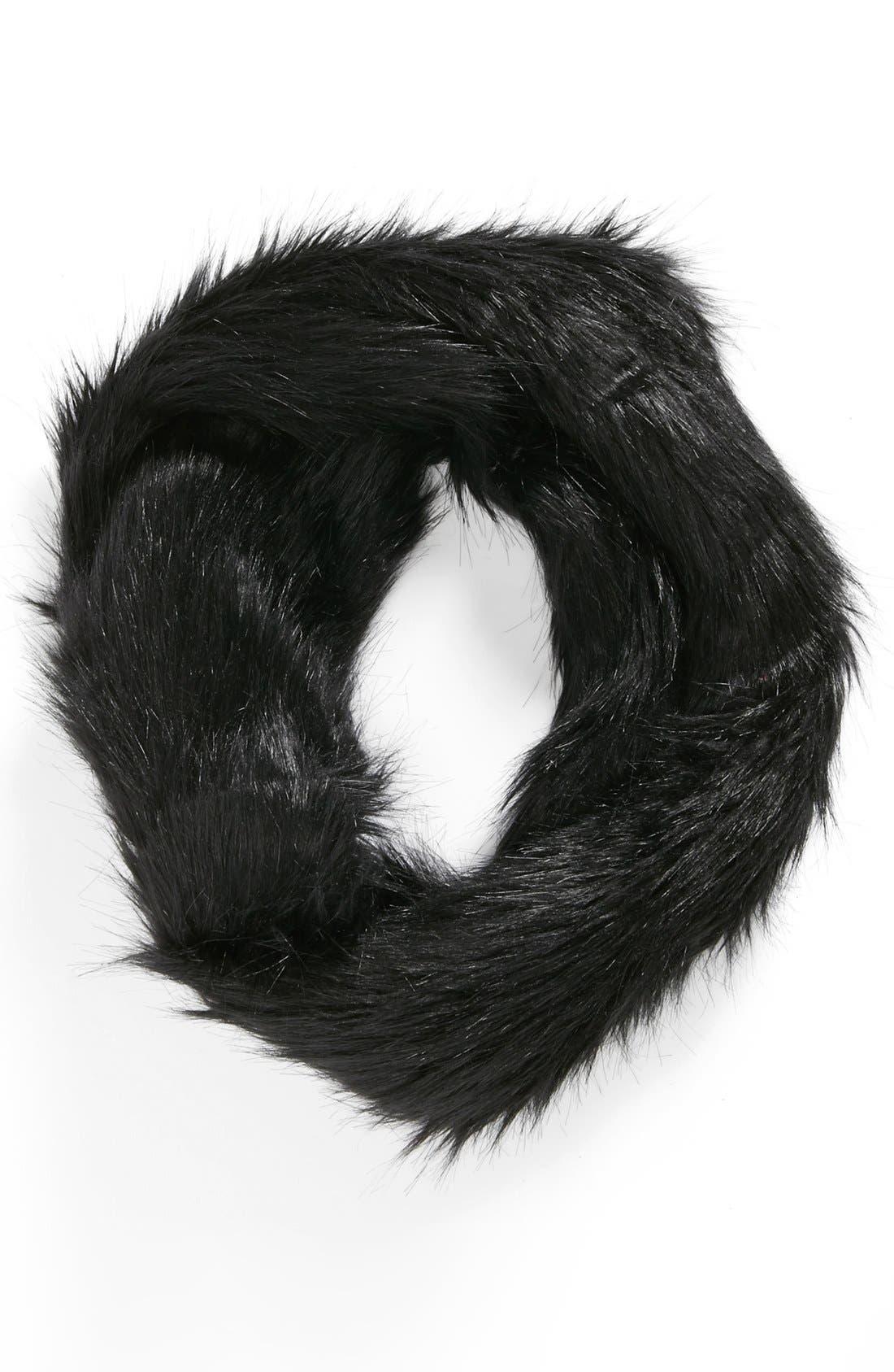 Main Image - Lulu Faux Fur Infinity Scarf (Juniors)