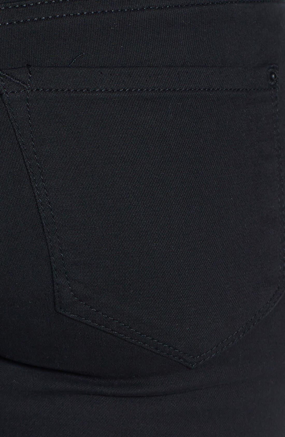 Alternate Image 3  - kensie 'You Look Pretty' Stretch Denim Skinny Jeans (Black)