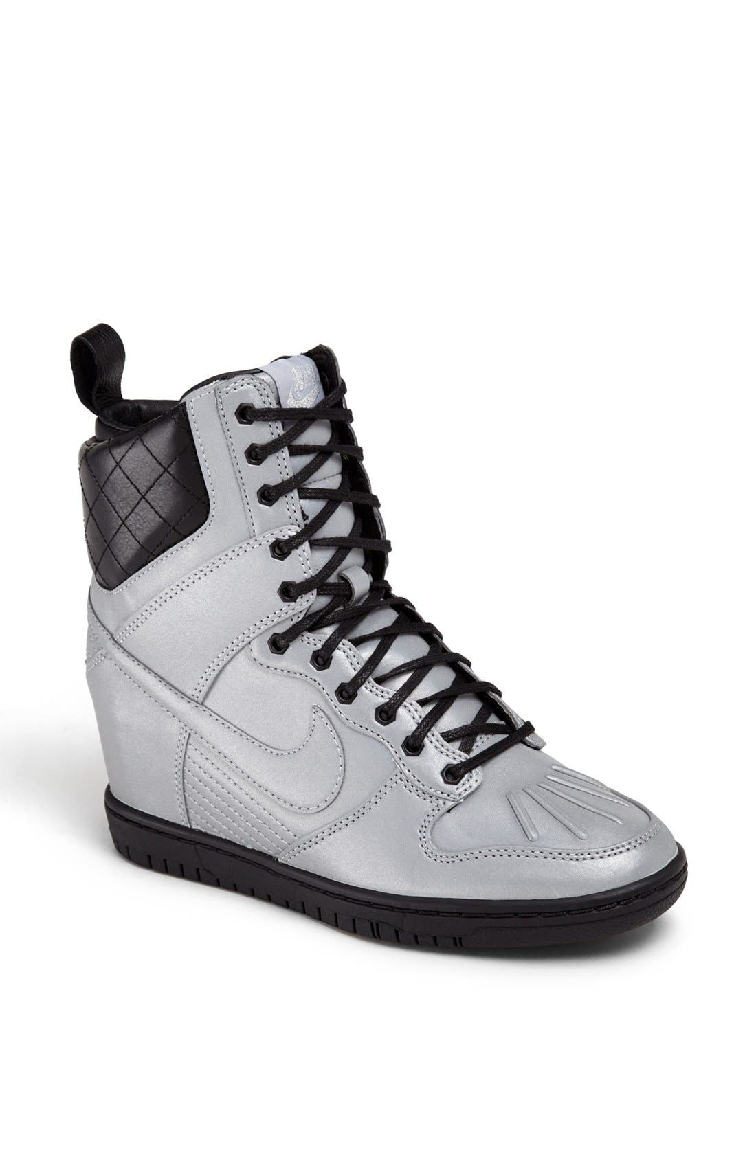 Alternate Image 1 Selected - Nike 'Dunk Sky Hi' Hidden Wedge Sneaker Boot (Women)