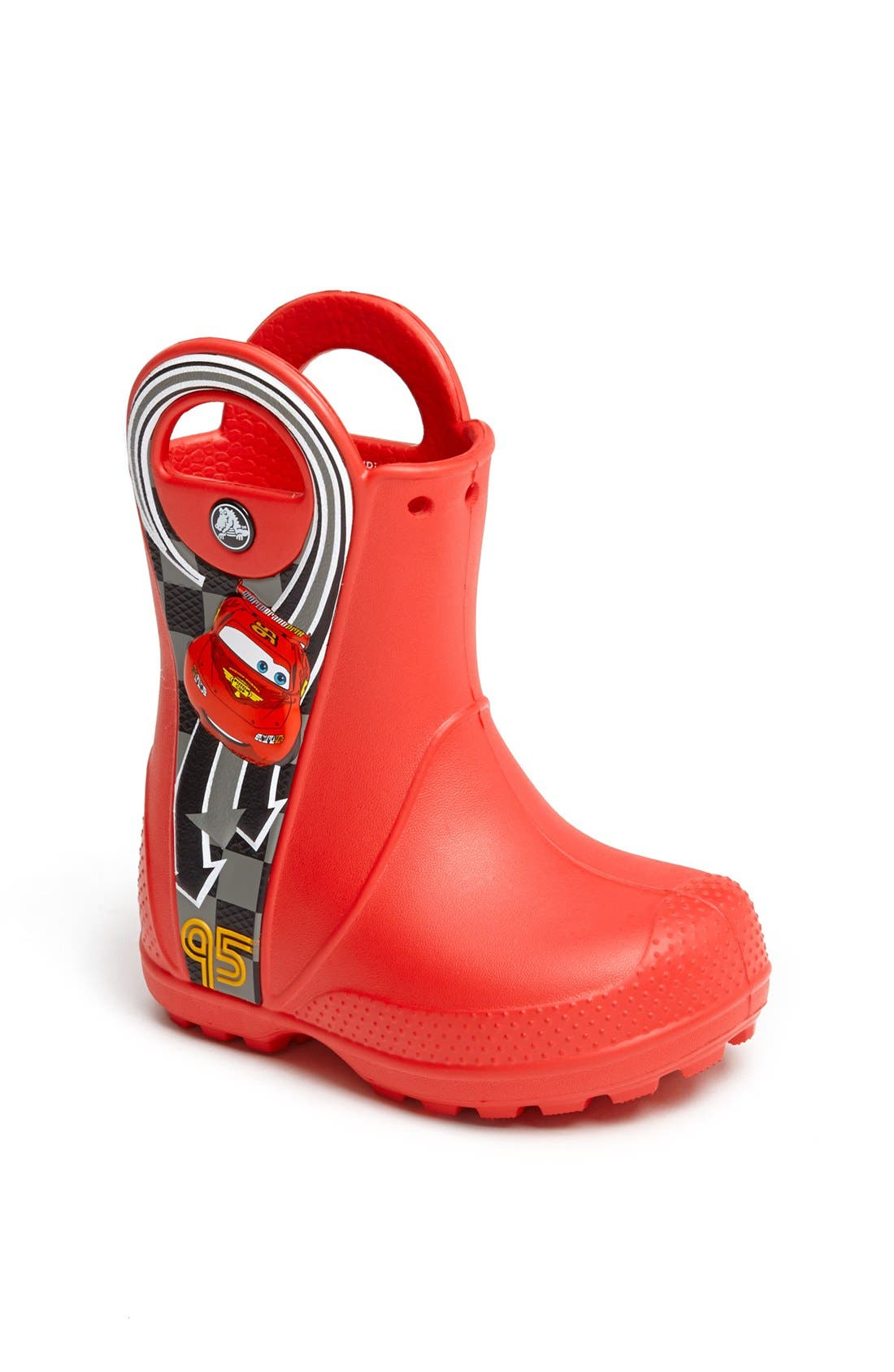 Alternate Image 1 Selected - CROCS™ 'Lightning McQueen' Rain Boot (Walker, Toddler & Little Kid)