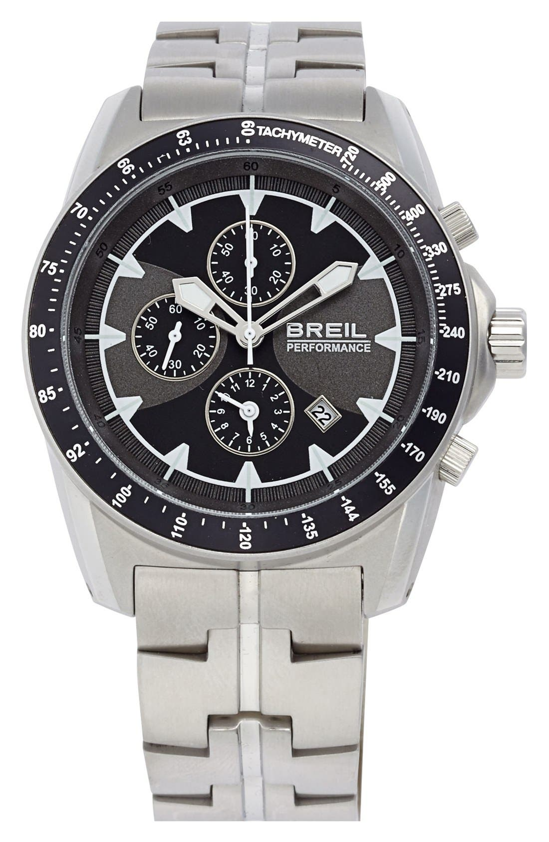 Alternate Image 1 Selected - Breil 'Enclosure' Chronograph Bracelet Watch, 45mm