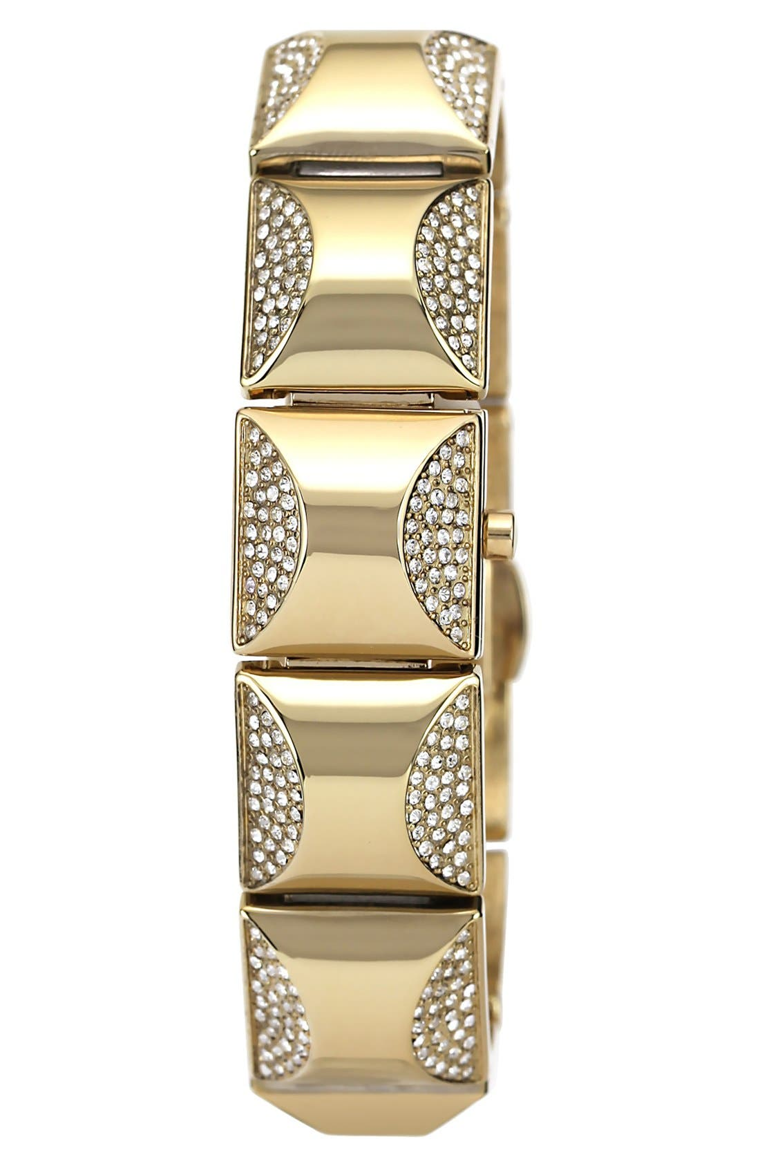 Main Image - Vince Camuto Covered Case Crystal Accent Bracelet Watch, 17mm