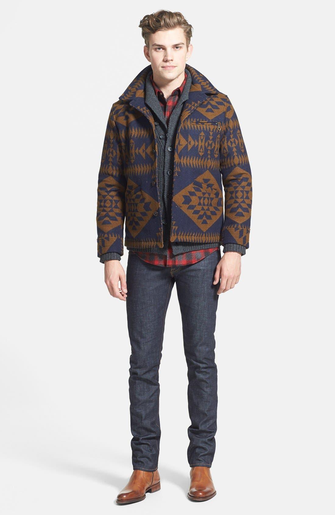 Alternate Image 2  - Pendleton Jacket, 7 Diamonds Sweater, Pendleton Fitted Flannel Shirt & J Brand Skinny Fit Jeans