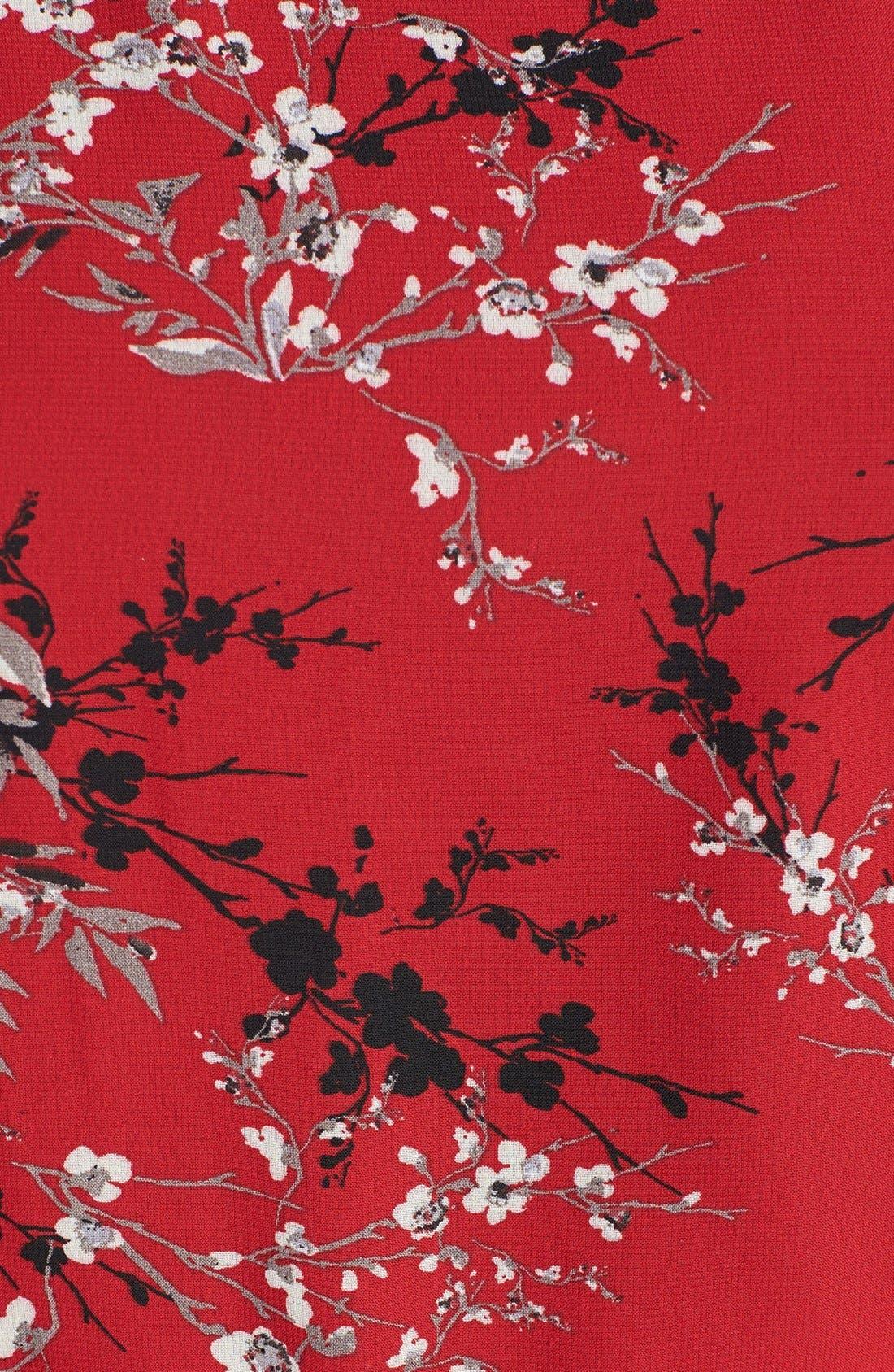 Alternate Image 3  - Evans Flutter Sleeve Print Chiffon Top (Plus Size)