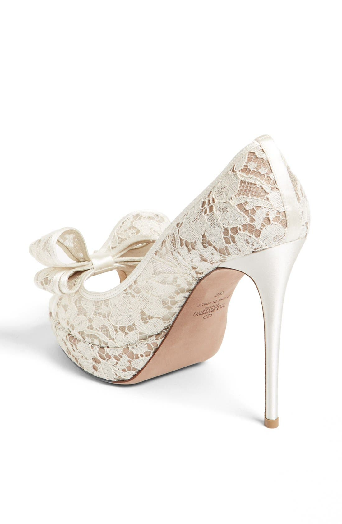 Alternate Image 2  - Valentino 'Lace Couture Bow' Open Toe Pump