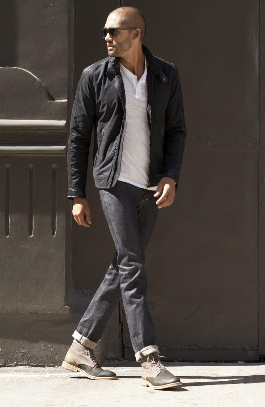 Alternate Image 8  - PRPS 'Rambler' Slim Fit Selvedge Jeans (6 Month)