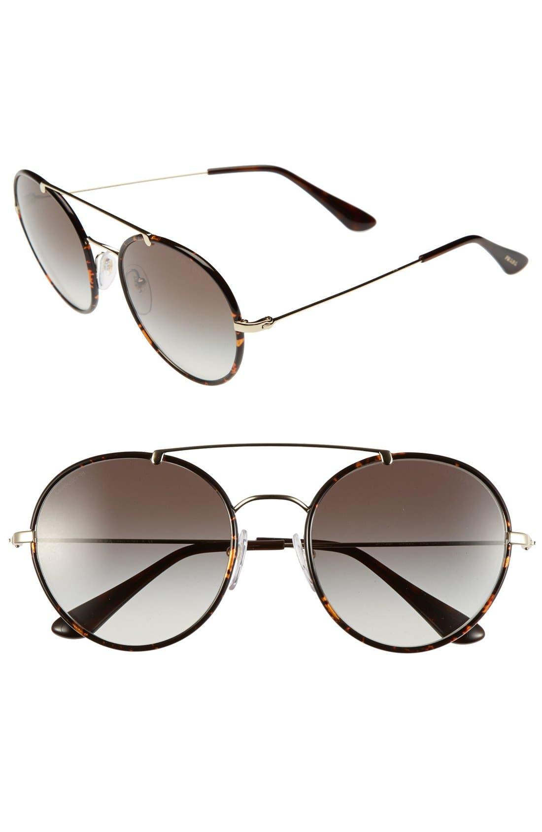 Main Image - Prada 54mm Retro Sunglasses