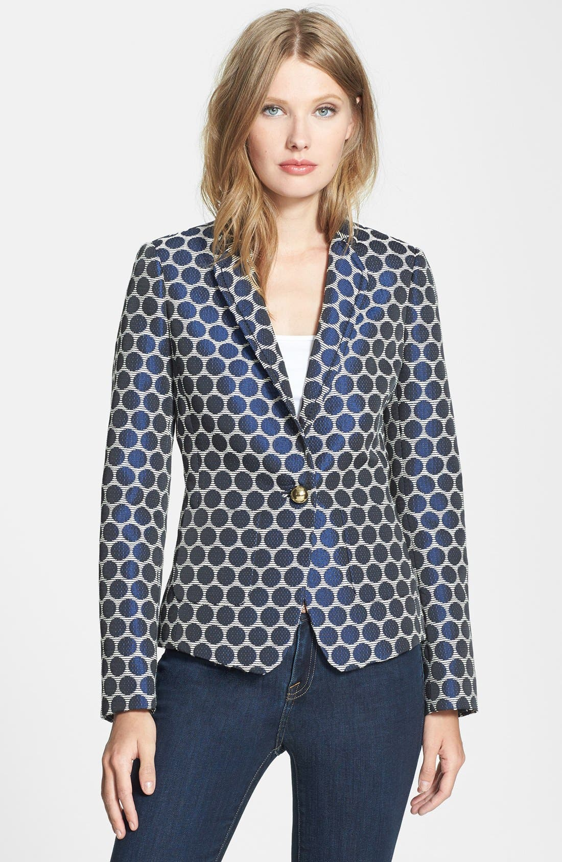 Main Image - kate spade new york 'millie' woven blazer