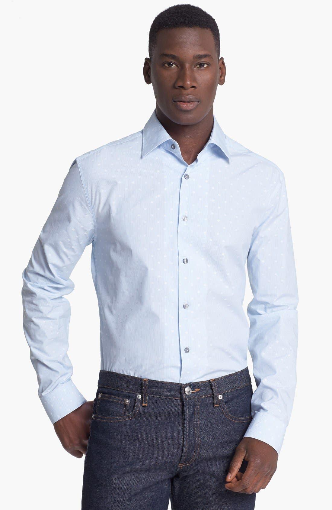 Main Image - Paul Smith London Slim Fit Dot Stripe Dress Shirt