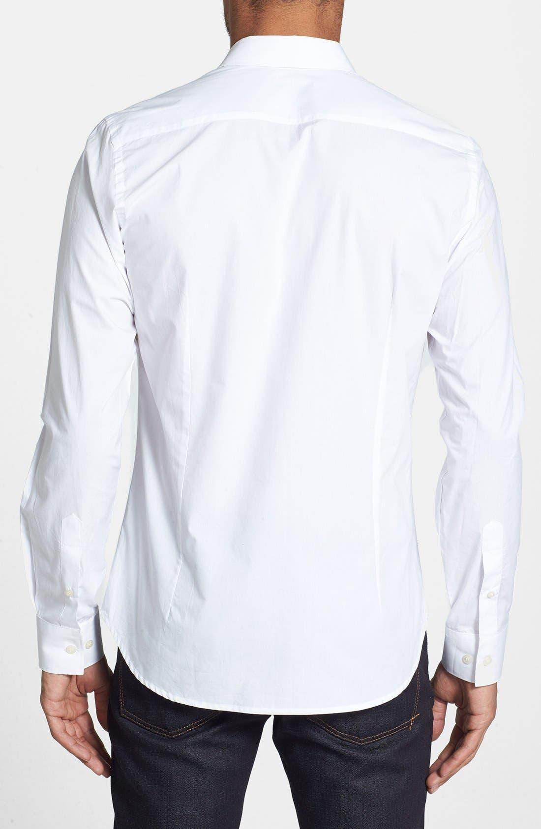 Alternate Image 2  - French Connection 'Wassail' Poplin Tuxedo Shirt