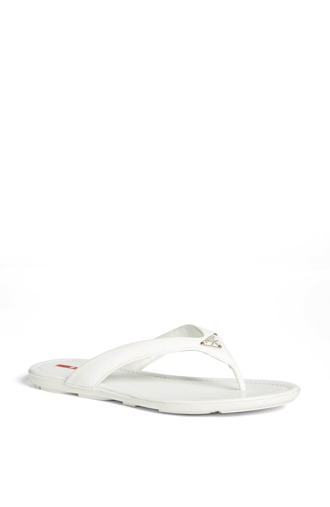 Alternate Image 1 Selected - Prada Logo Thong Sandal