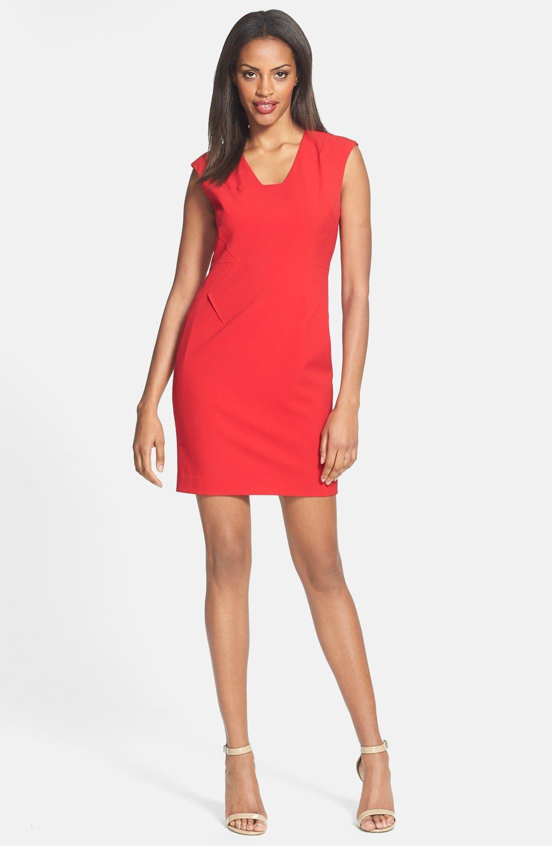 Alternate Image 2  - Calvin Klein Sheath Dress