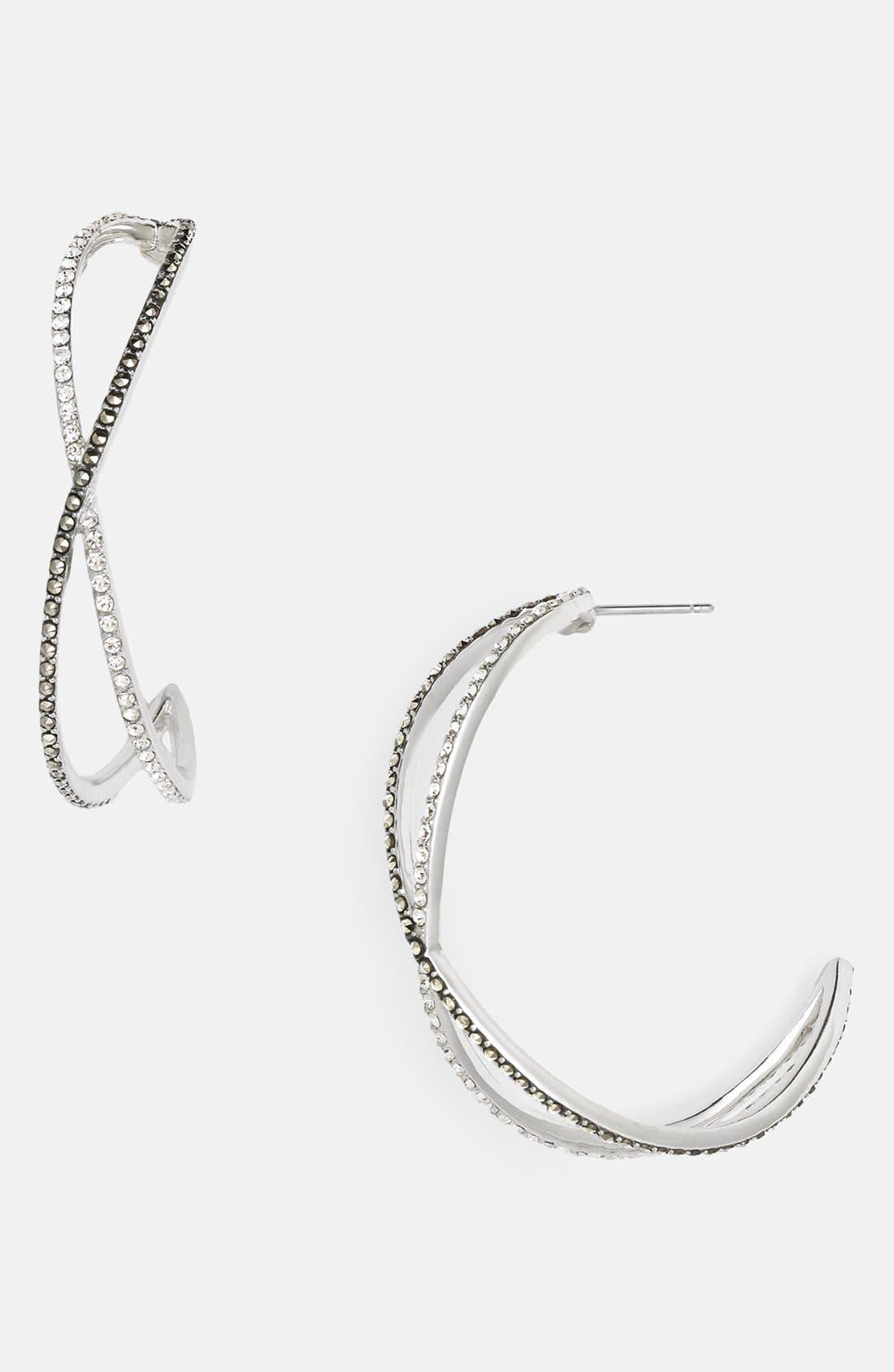 Alternate Image 1 Selected - Judith Jack 'Licorice' Large Hoop Earrings
