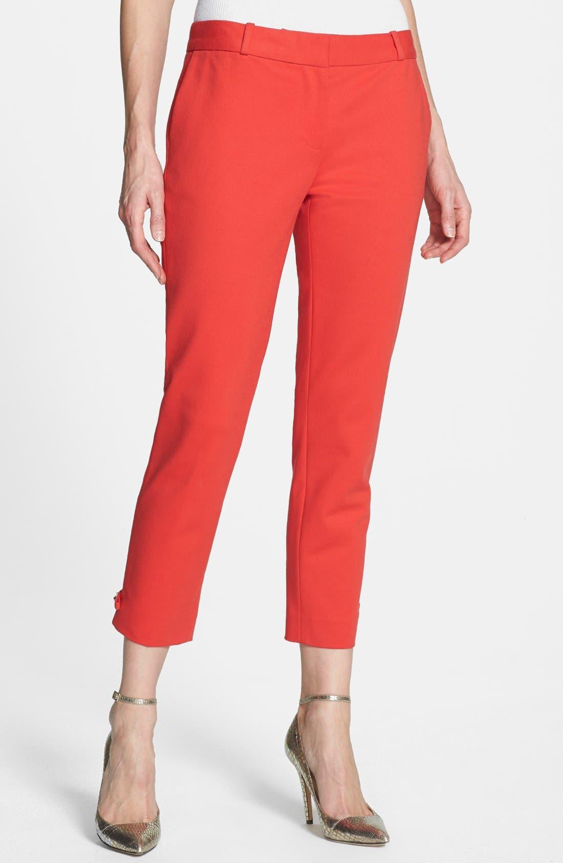 Main Image - kate spade new york 'jackie' stretch cotton capri pants
