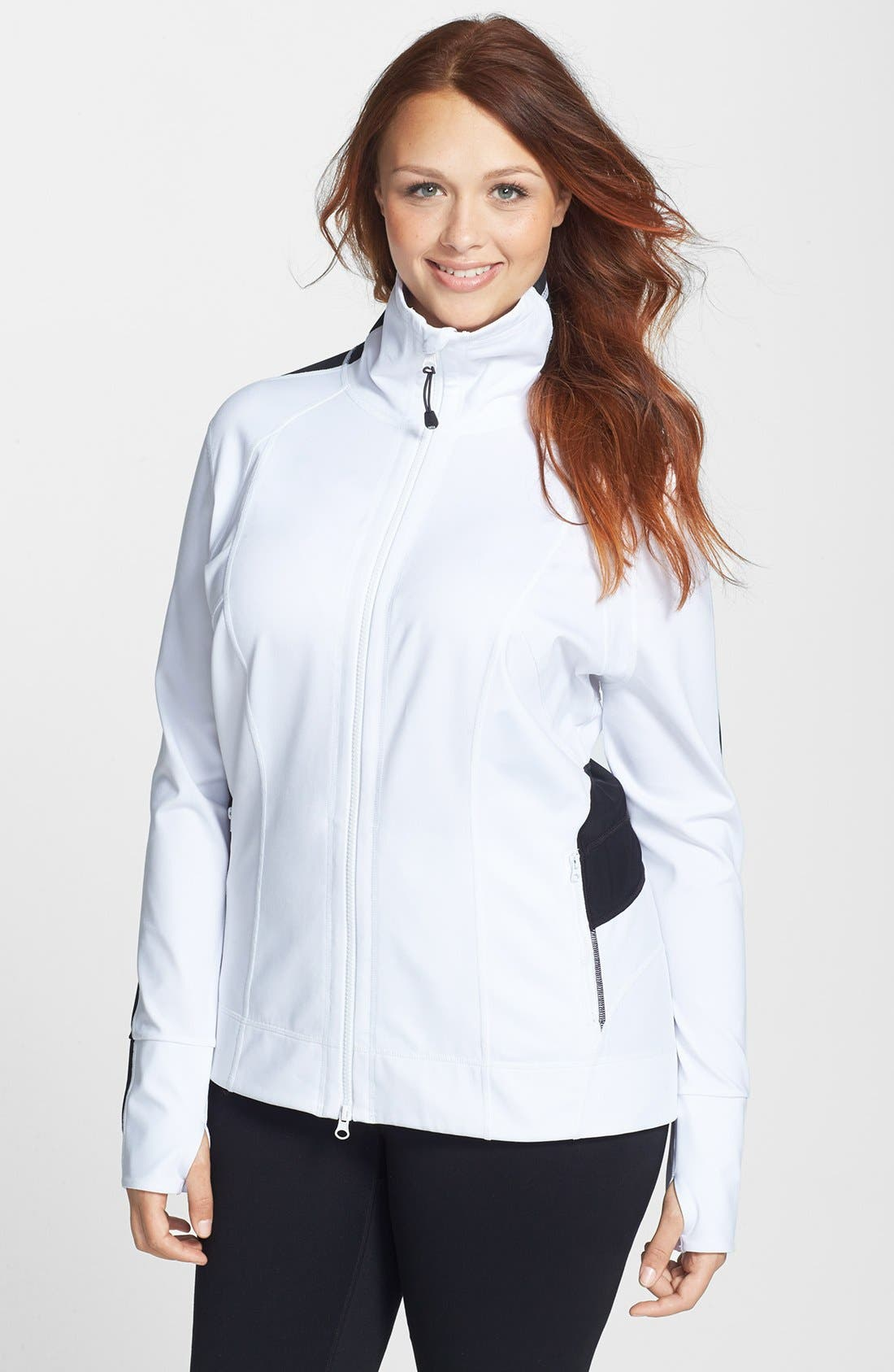 Main Image - Zella 'Bliss' Colorblock Jacket (Plus Size)