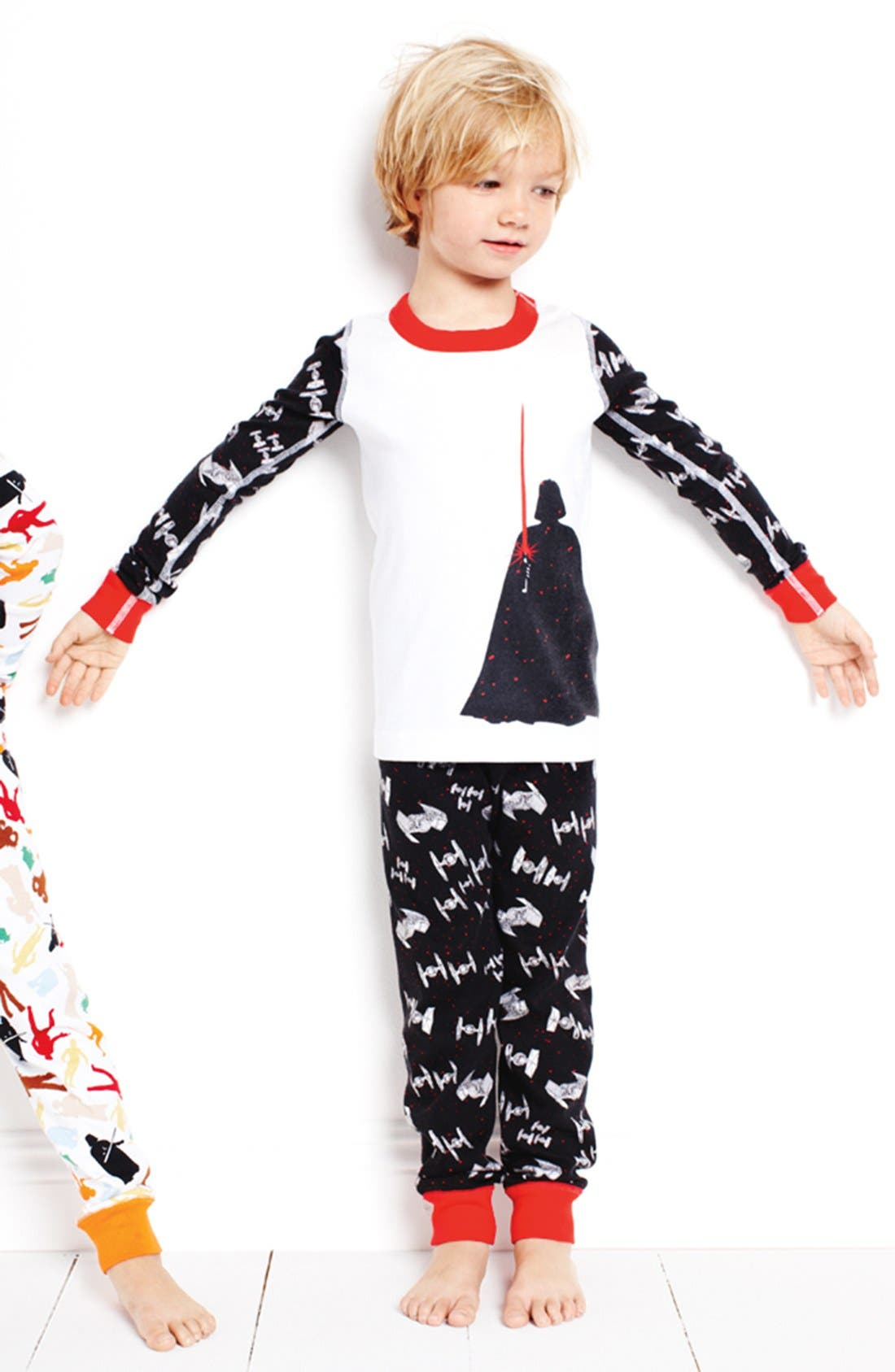 Alternate Image 2  - Hanna Andersson 'Lightsaber' Organic Cotton Two-Piece Fitted Pajamas (Little Boys & Big Boys)