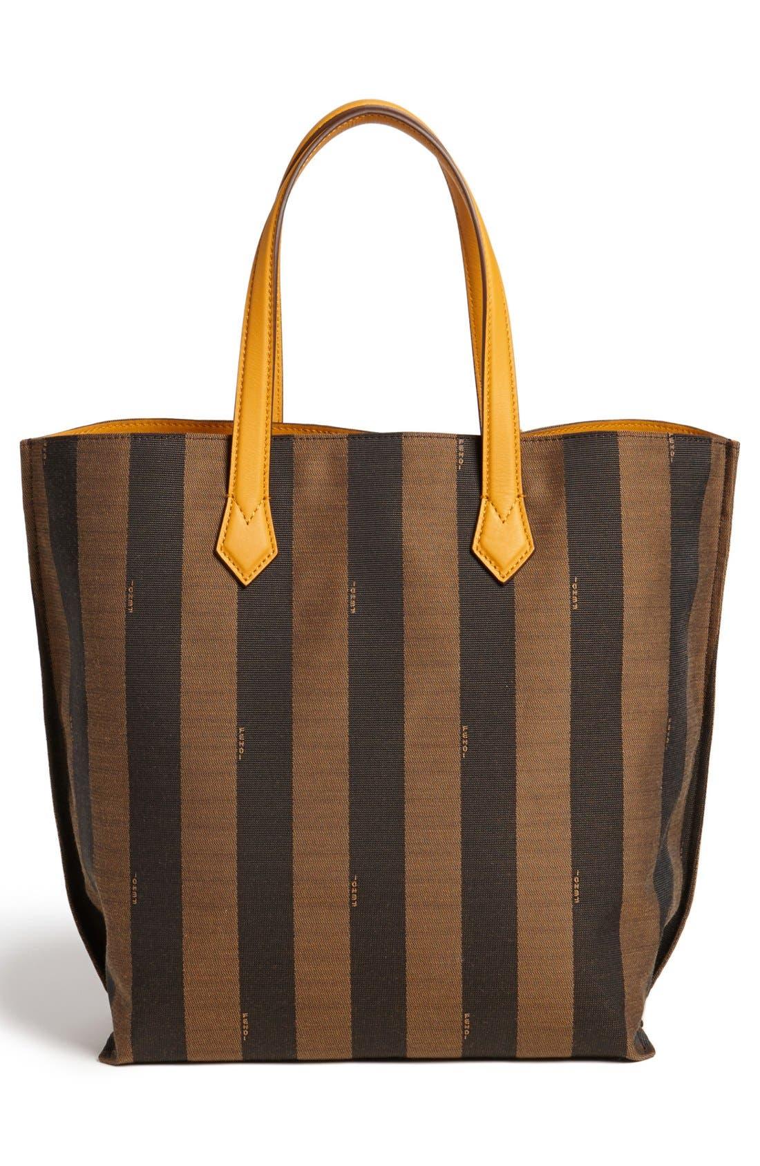 Alternate Image 4  - Fendi 'All In - Pequin' Logo Jacquard Shopper Tote