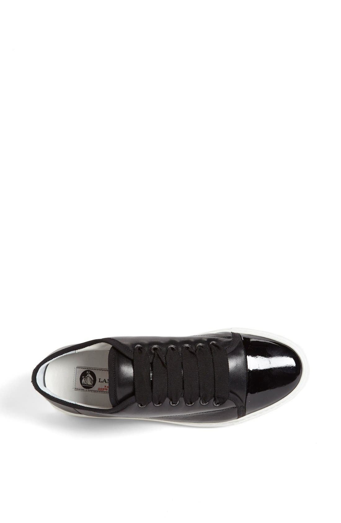 Alternate Image 3  - Lanvin Leather Low Top Sneaker