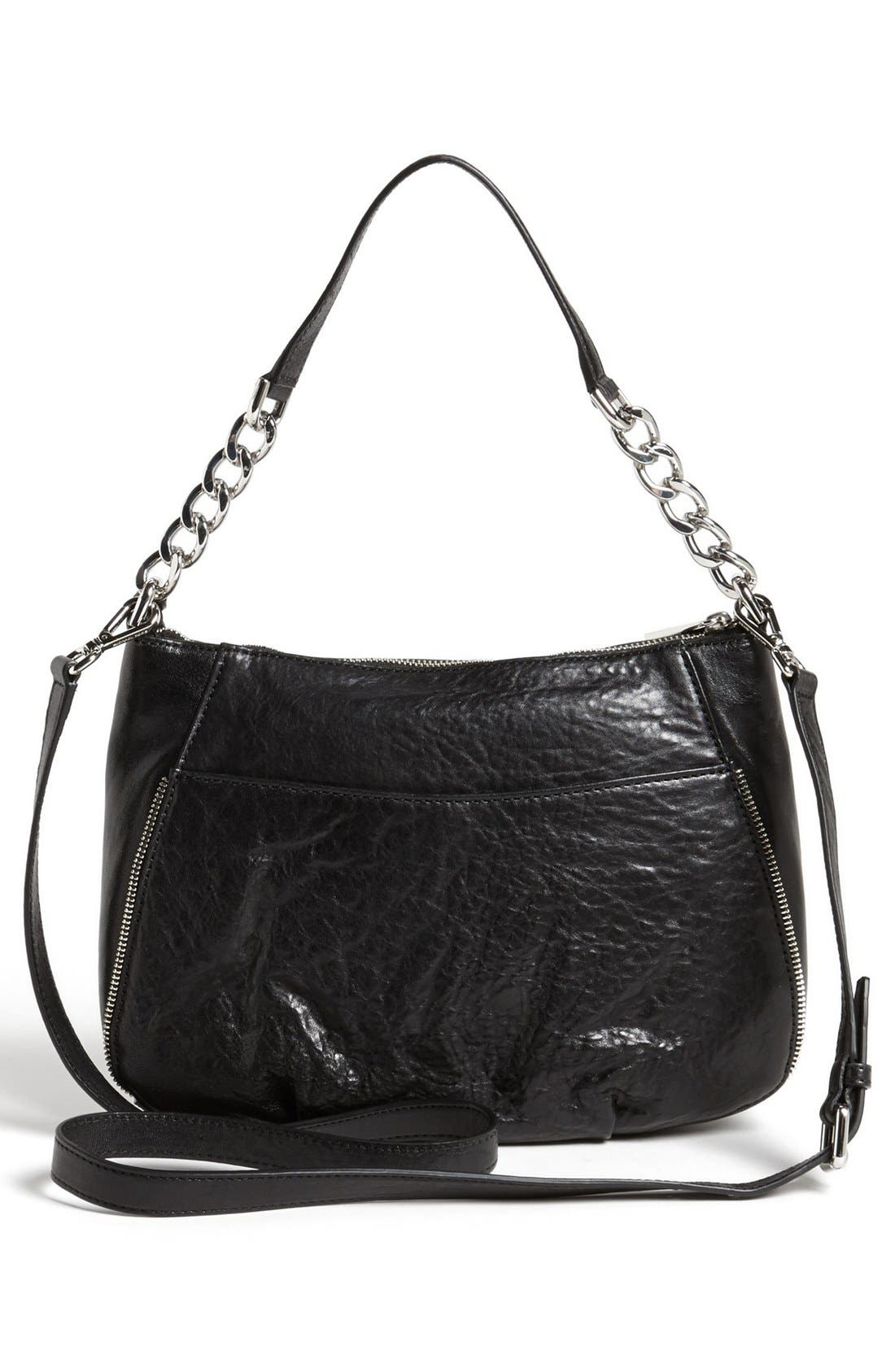 Alternate Image 4  - MICHAEL Michael Kors 'Odette - Medium' Leather Crossbody Bag