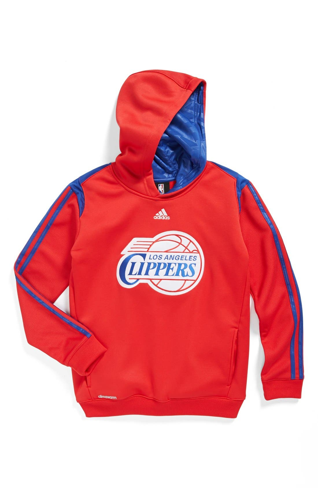 Alternate Image 1 Selected - adidas 'Los Angeles Clippers - On Court' Hoodie (Big Boys)