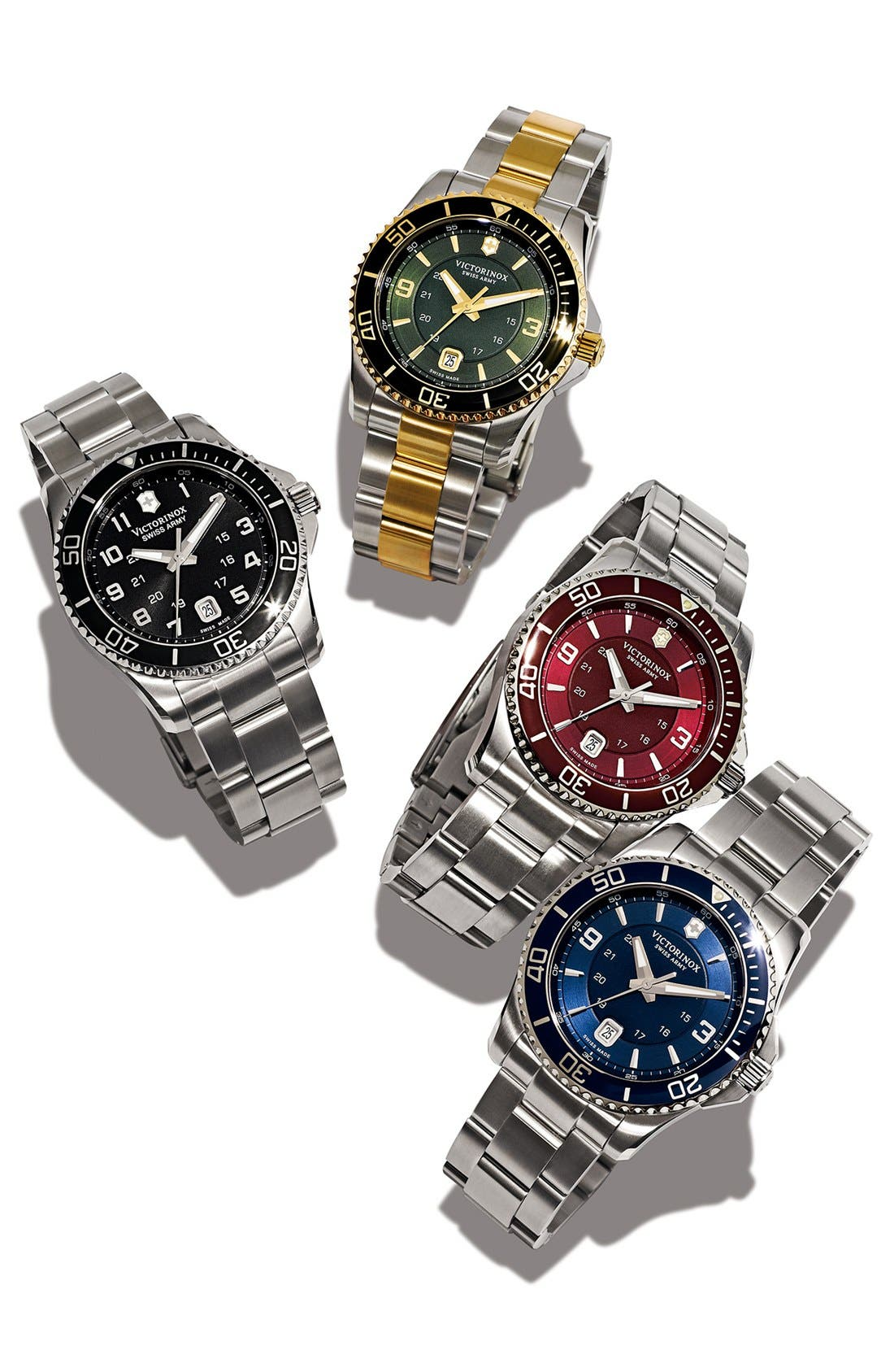 Alternate Image 6  - Victorinox Swiss Army® 'Maverick GS' Stainless Steel Watch, 43mm