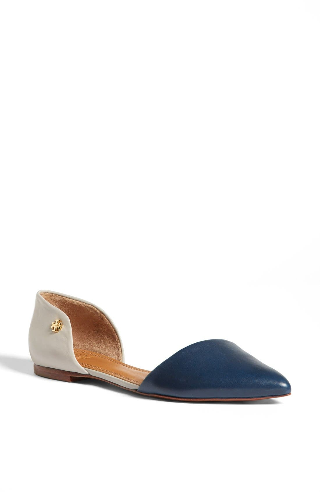 Alternate Image 1 Selected - Tory Burch Leather Flat