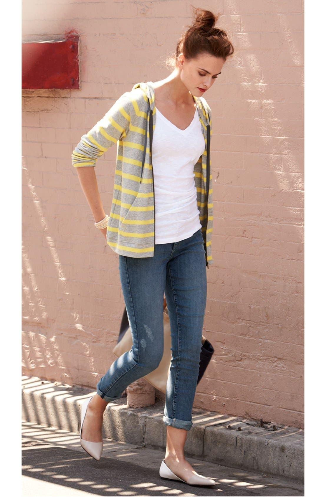 Alternate Image 5  - NYDJ 'Leann' Stretch Skinny Boyfriend Jeans (Lake Arrowhead) (Regular & Petite)