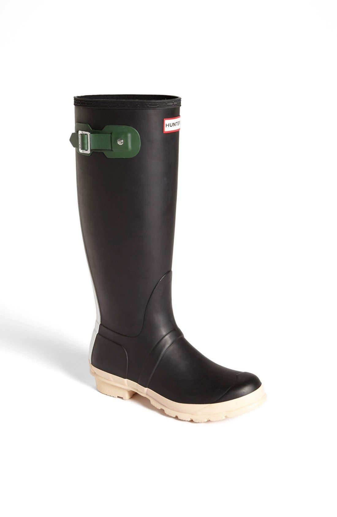 Alternate Image 1 Selected - Hunter 'Original - Contrast' Waterproof Rain Boot (Women)