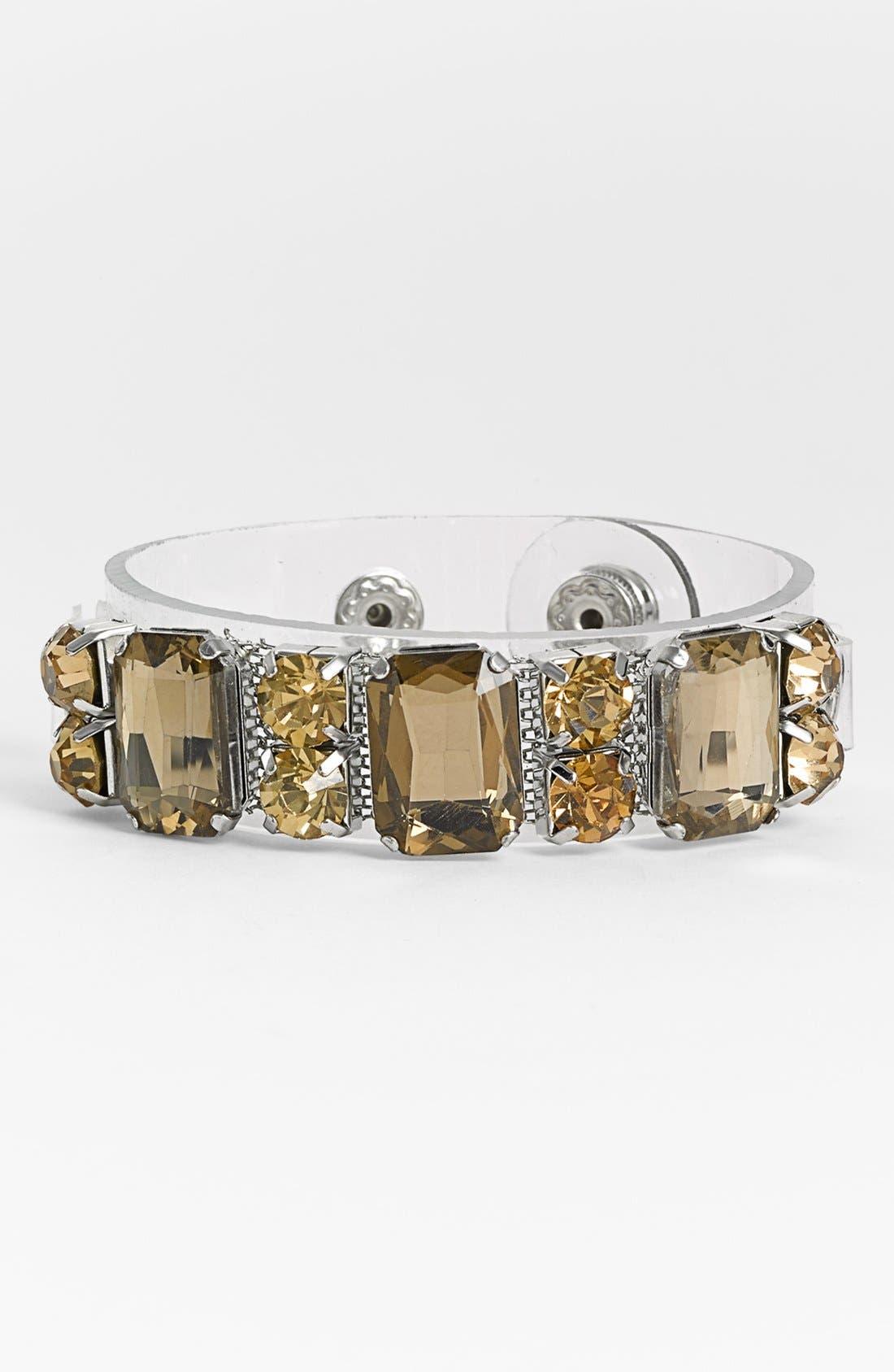 Alternate Image 1 Selected - Cara Crystal Embellished Plastic Cuff
