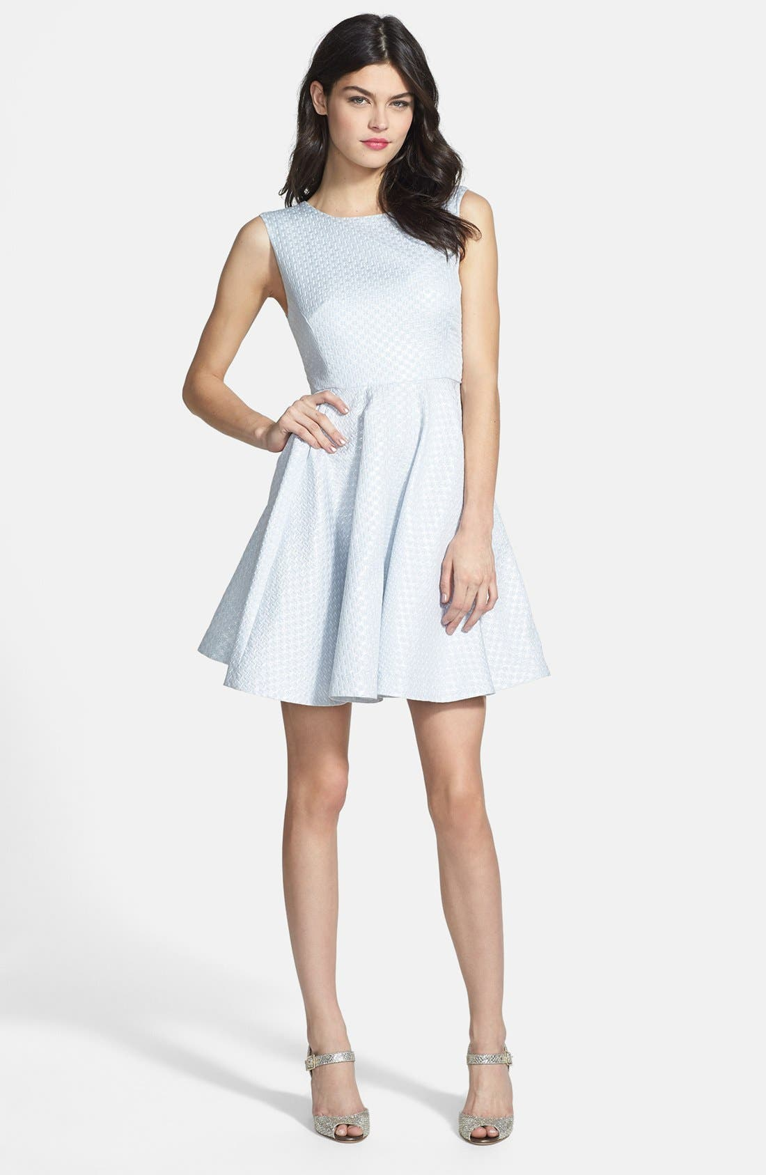 Main Image - Shoshanna 'Krista' Jacquard Fit & Flare Dress