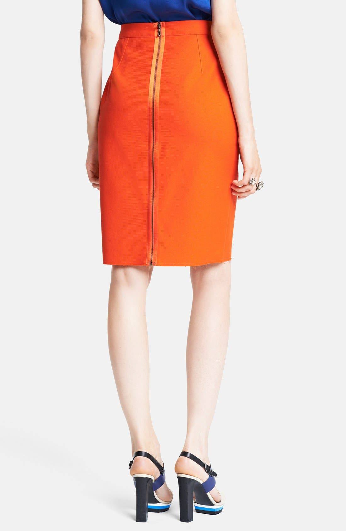 Alternate Image 2  - Lanvin Cotton Piqué Pencil Skirt