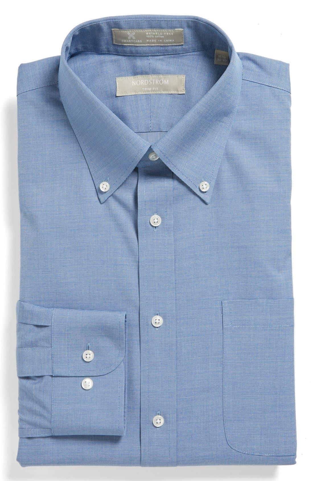 Alternate Image 1 Selected - Nordstrom Smartcare™ Wrinkle Free Trim Fit Dress Shirt